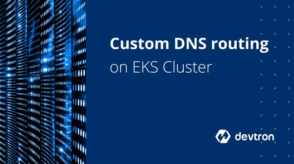 Setting up custom DNS routing on EKS Cluster